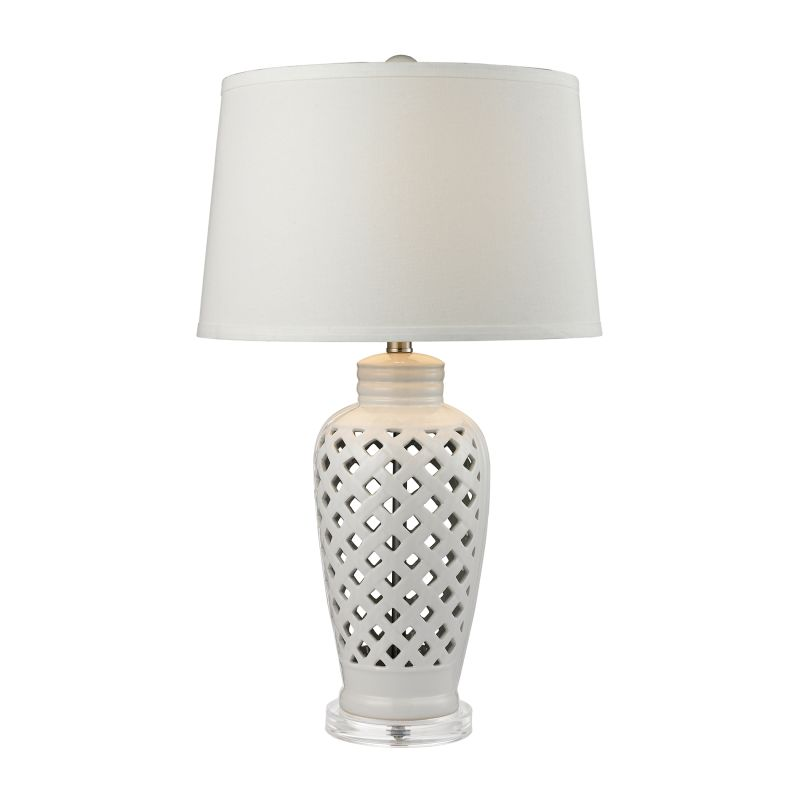 Dimond Lighting D2621 1 Light Table Lamp from the Openwork Ceramic