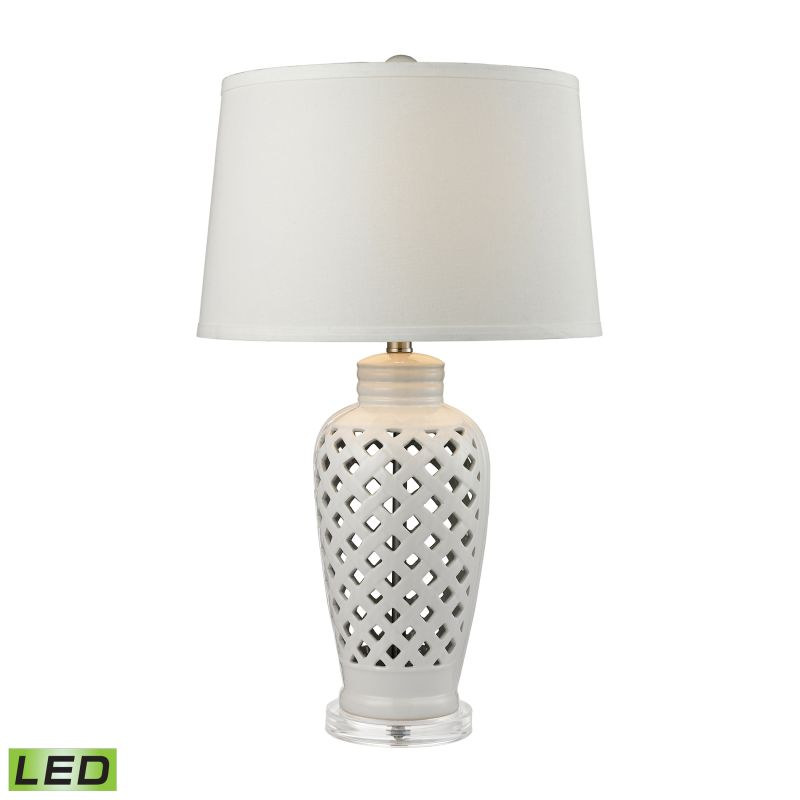 Dimond Lighting D2621-LED 1 Light LED Table Lamp from the Openwork