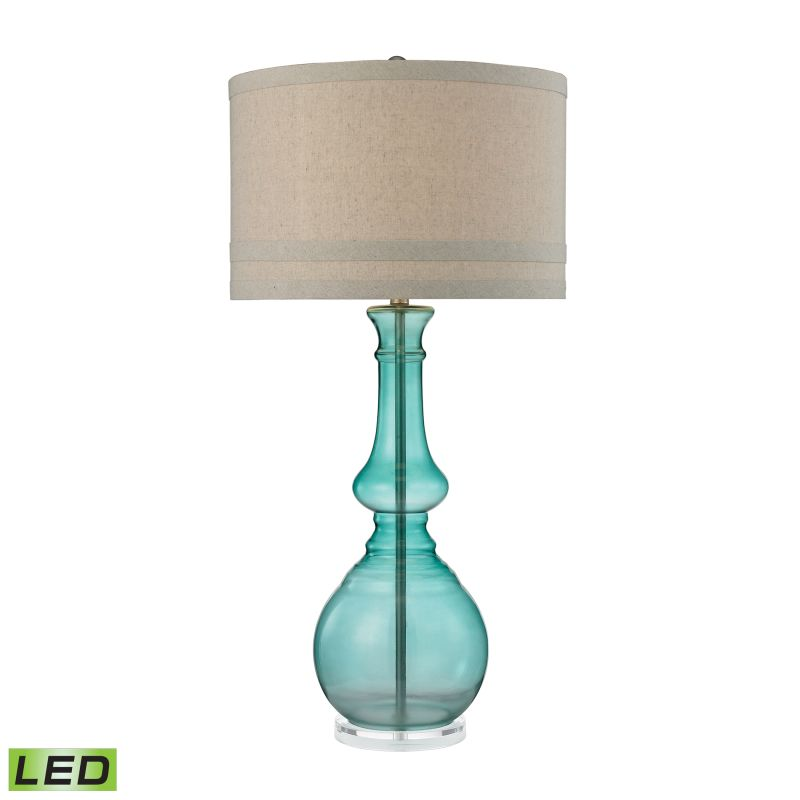 Dimond Lighting D2625-LED 1 Light LED Table Lamp from the Tall Glass