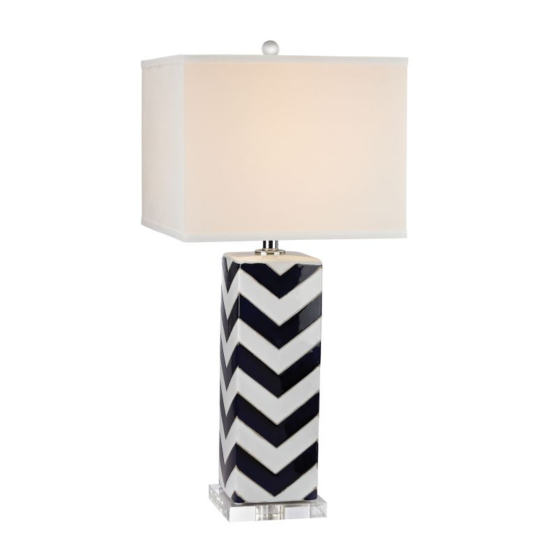 Dimond Lighting D2633 1 Light Table Lamp from the Chevron Collection