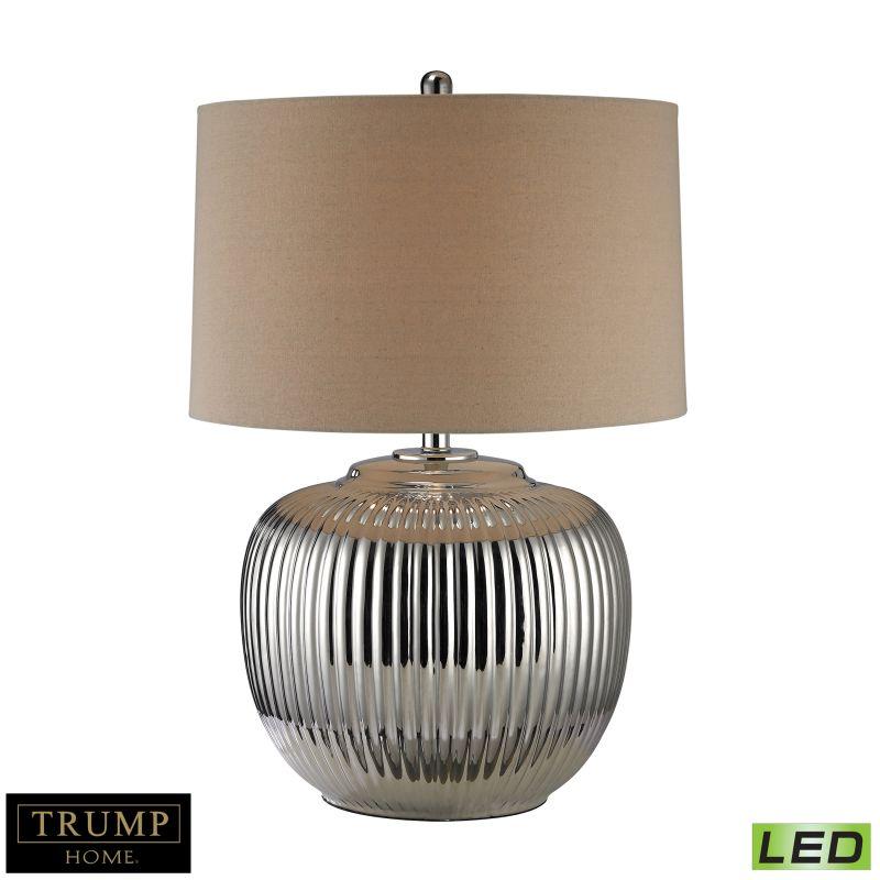"""Dimond Lighting D2640-LED 1 Light 27"""" Height LED Table Lamp Silver"""