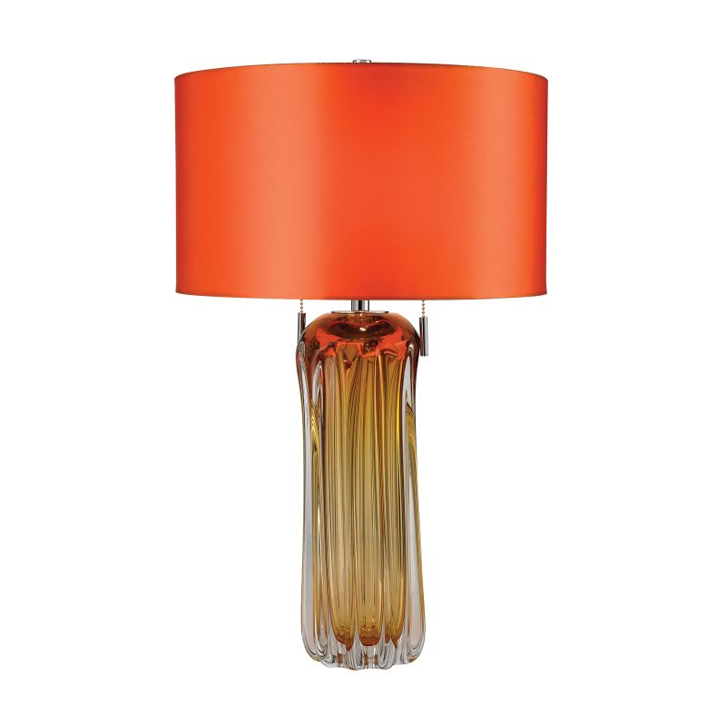 Dimond Lighting D2660 2 Light Accent Table Lamp with Orange Faux Silk