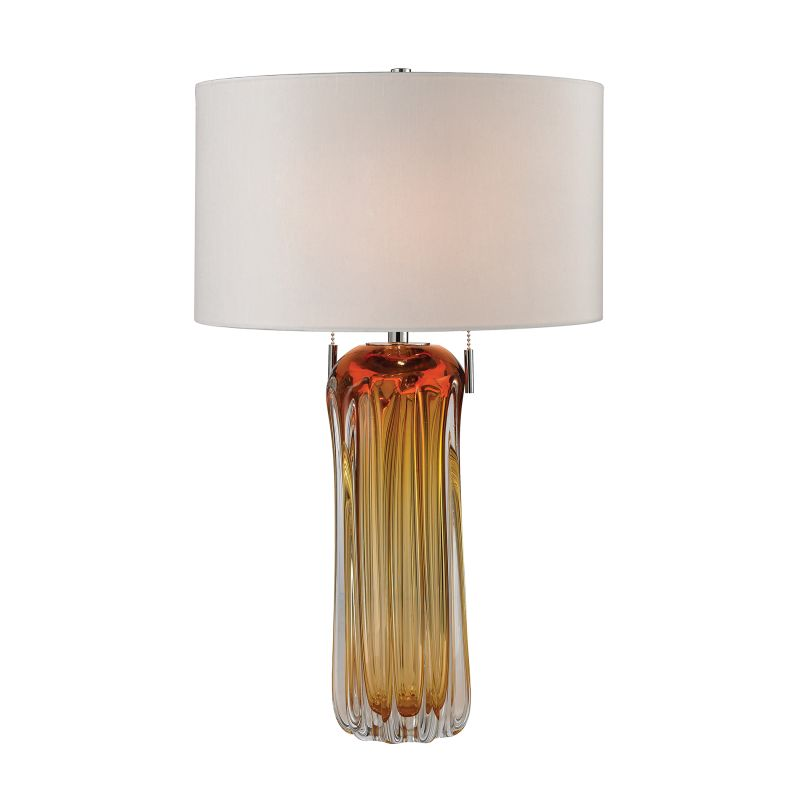Dimond Lighting D2660W 2 Light Accent Table Lamp with White Faux Silk