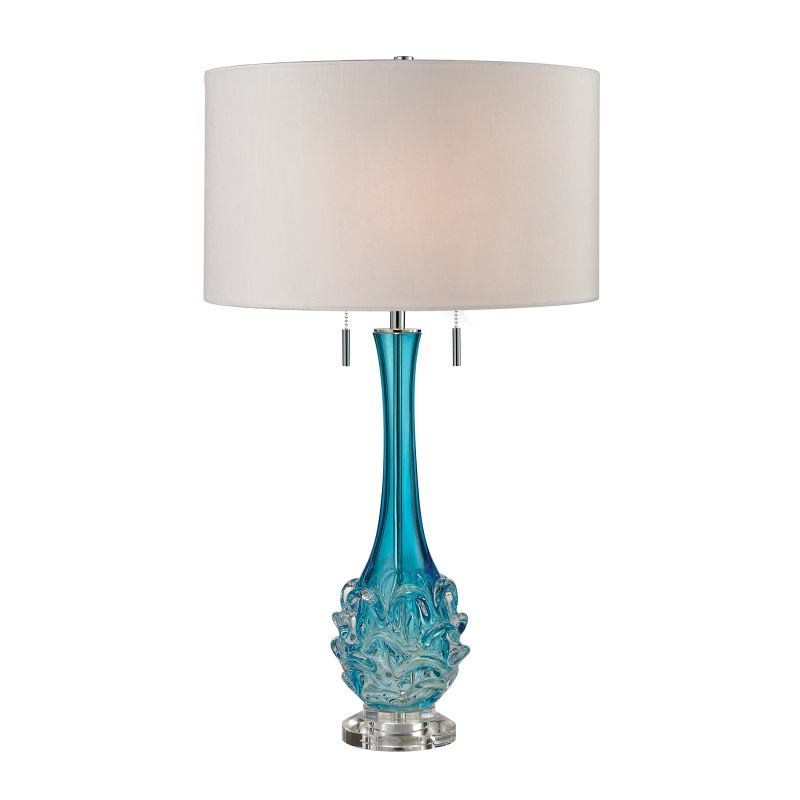 Dimond Lighting D2666W 2 Light Accent Table Lamp with White Faux Silk