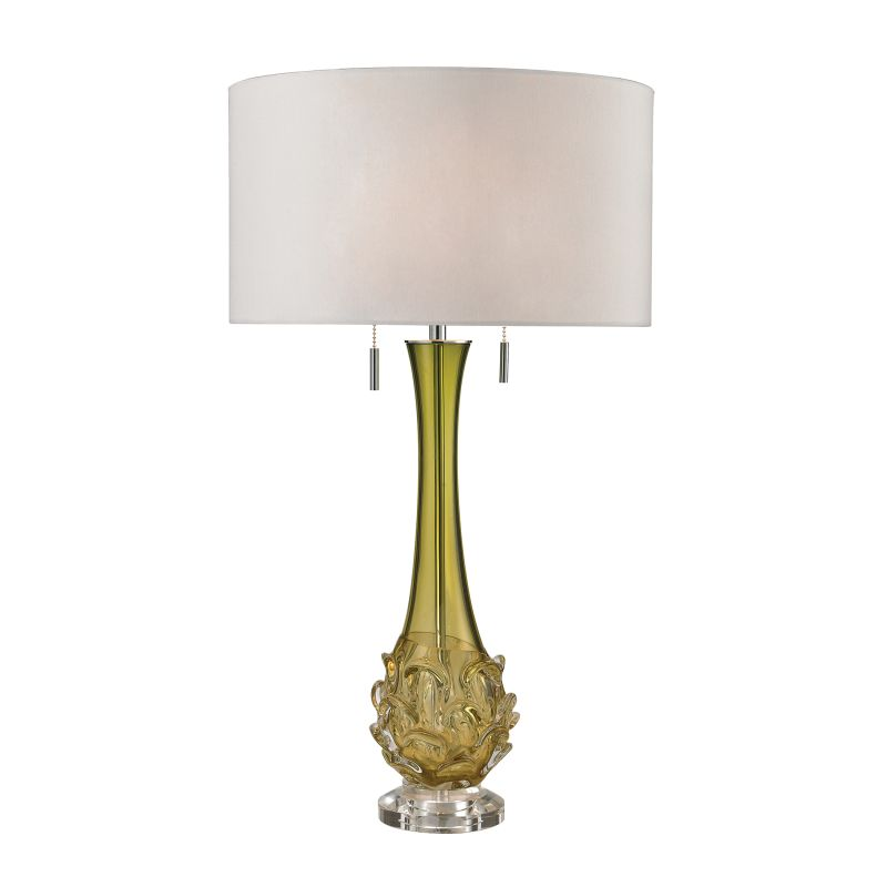 Dimond Lighting D2667W 2 Light Accent Table Lamp with White Faux Silk