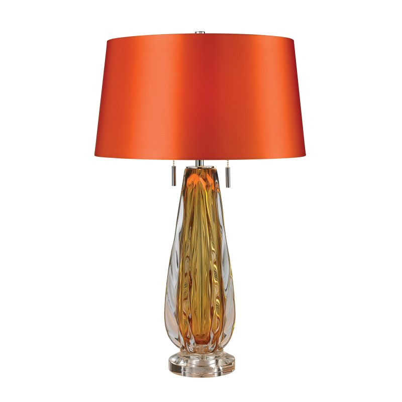Dimond Lighting D2669 2 Light Accent Table Lamp with Orange Faux Silk Sale $358.00 ITEM: bci2585592 ID#:D2669 UPC: 748119062587 :