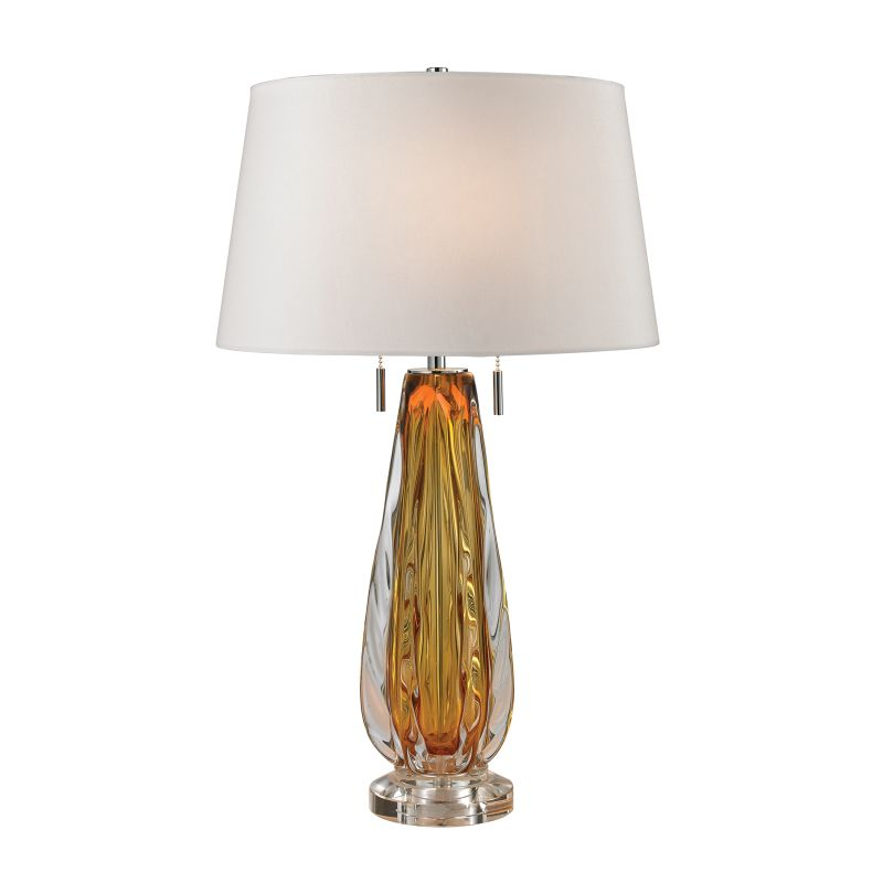 Dimond Lighting D2669W 2 Light Accent Table Lamp with White Faux Silk