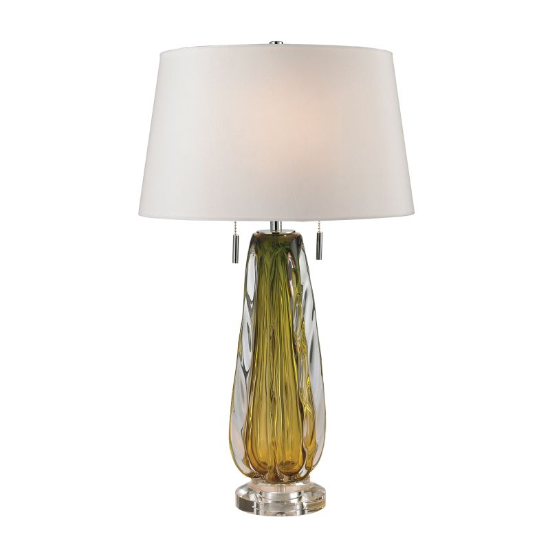 Dimond Lighting D2670W 2 Light Accent Table Lamp with White Faux Silk