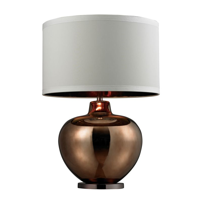 Dimond Lighting D273 1 Light Table Lamp with White Shade Bronze / Sale $358.00 ITEM: bci2672819 ID#:D273 UPC: 748119038780 :