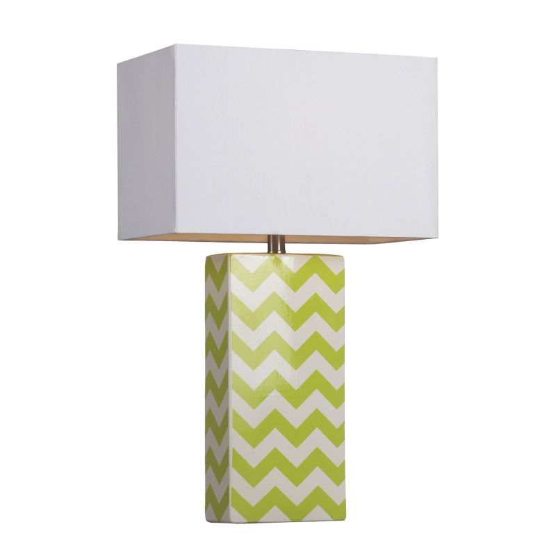 Dimond Lighting D278 1 Light Table Lamp with White Shade Citrus Green Sale $198.00 ITEM: bci2672821 ID#:D278 UPC: 748119038810 :