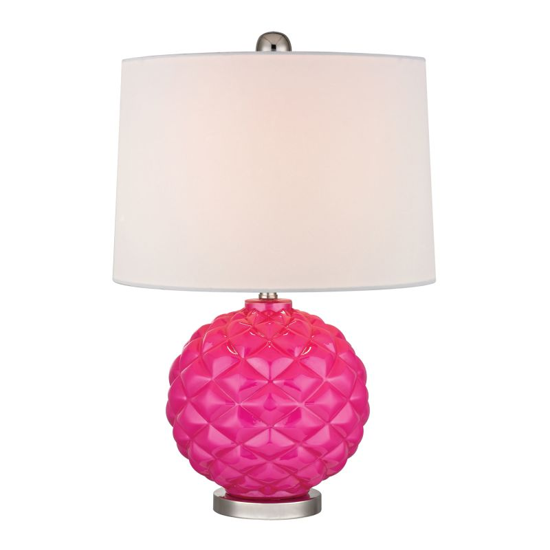 Dimond Lighting D353 1 Light Table Lamp with White Shade Hot Pink / Sale $158.00 ITEM: bci2672851 ID#:D353 UPC: 748119062136 :