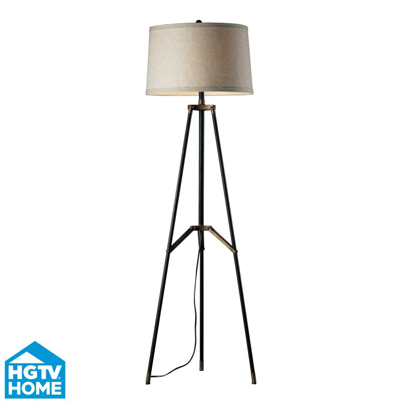 Dimond Lighting HGTV310 1 Light Tripod Floor Lamp from the HGTV