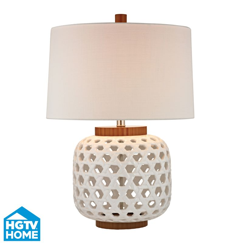 "Dimond Lighting HGTV346 1 Light 26"" Height Table Lamp with Pure White"