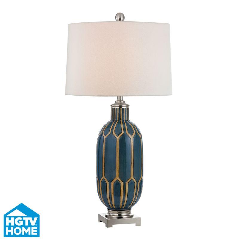 Dimond Lighting HGTV351 1 Light Table Lamp from the HGTV Gold Leaf