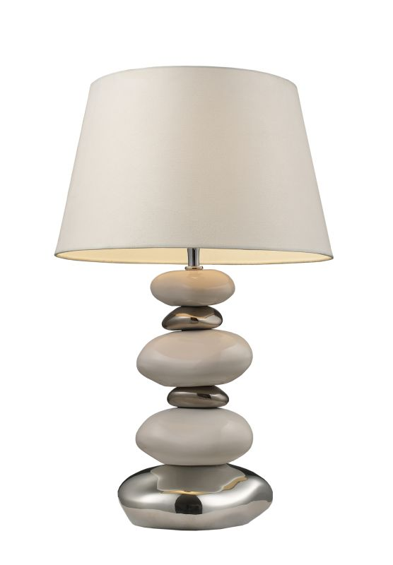 "Dimond Lighting 3948/1 1 Light 23"" Height Table Lamp with White Shade"