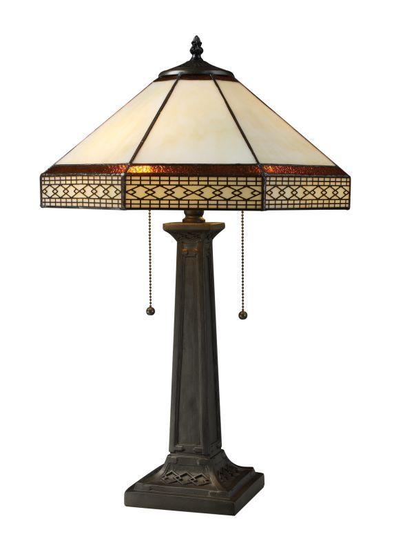 Dimond Lighting D1858 2 Light Table Lamp from the Stone Filigree