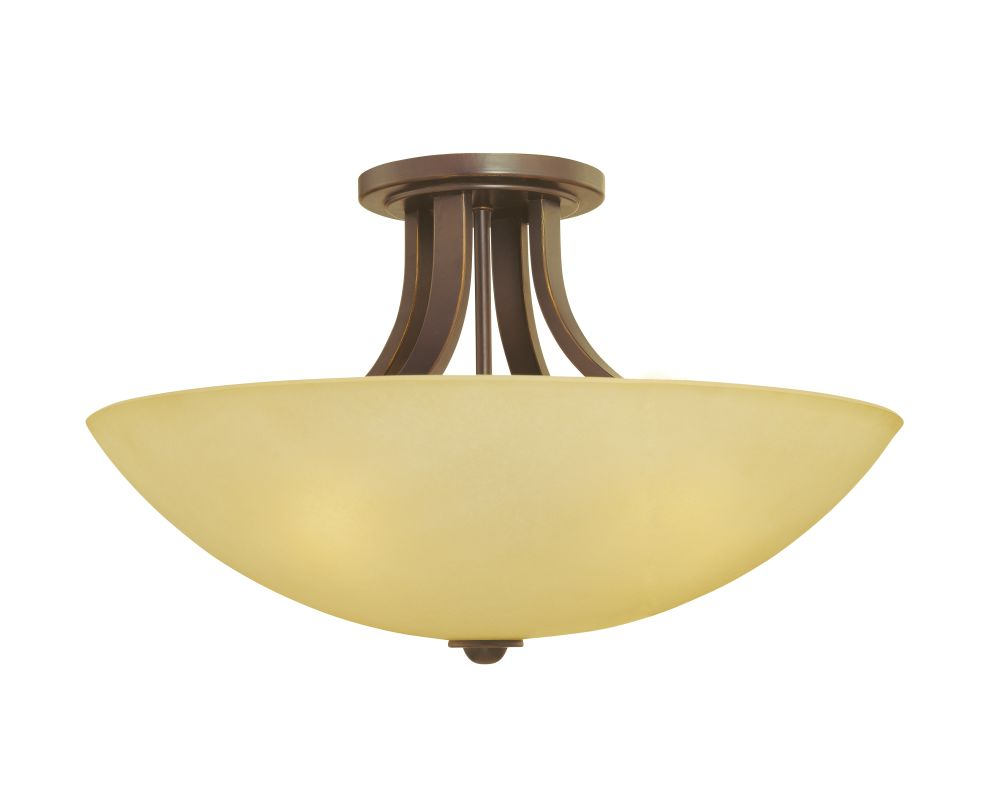 Dolan Designs 203 Fireside 4 Light Semi-Flush Ceiling Fixture Bolivian