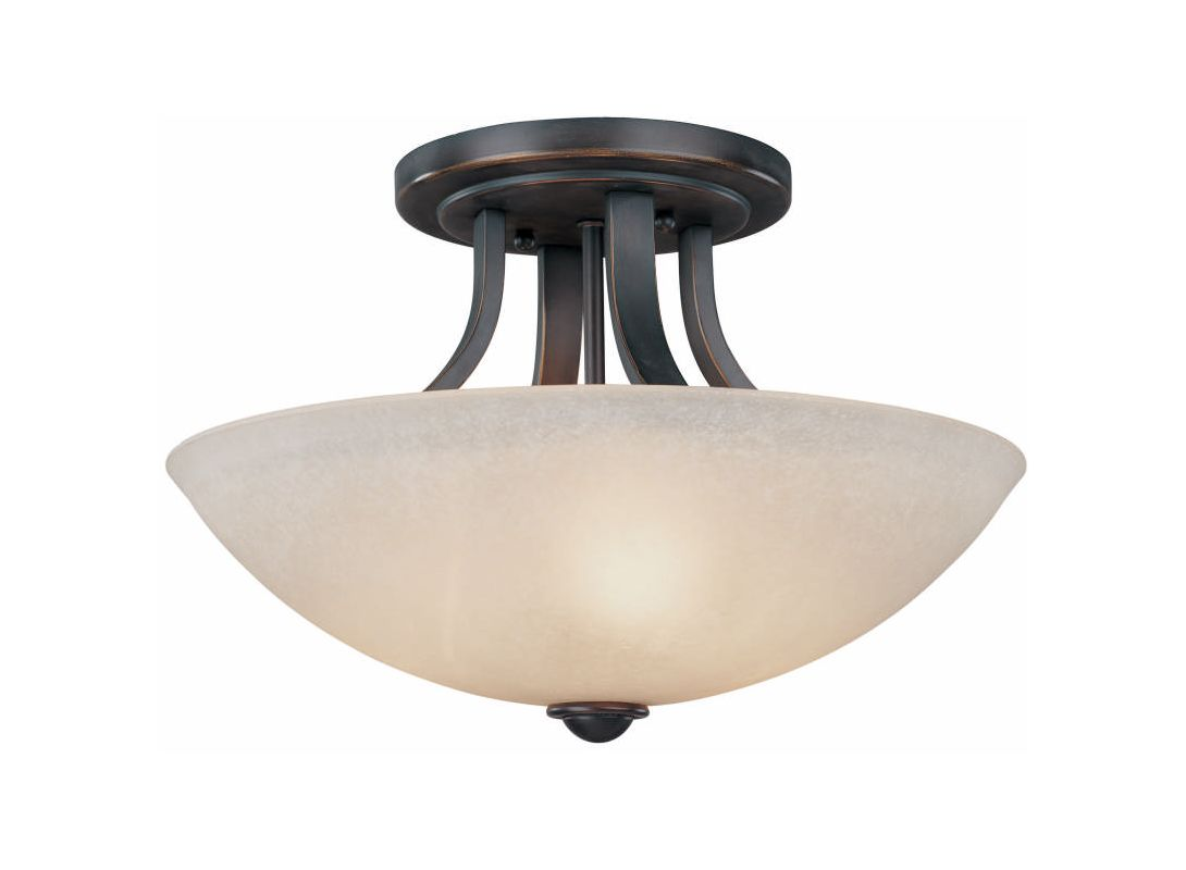 Dolan Designs 204 Fireside 3 Light Semi-Flush Ceiling Fixture Bolivian