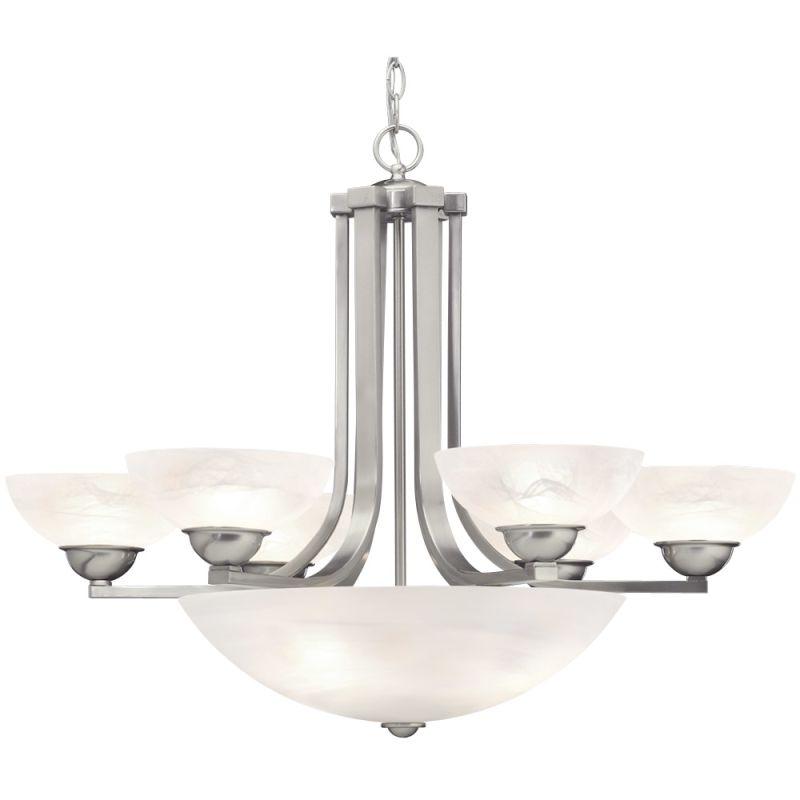 Dolan Designs 205 Fireside 9 Light 1 Tier Chandelier Satin Nickel