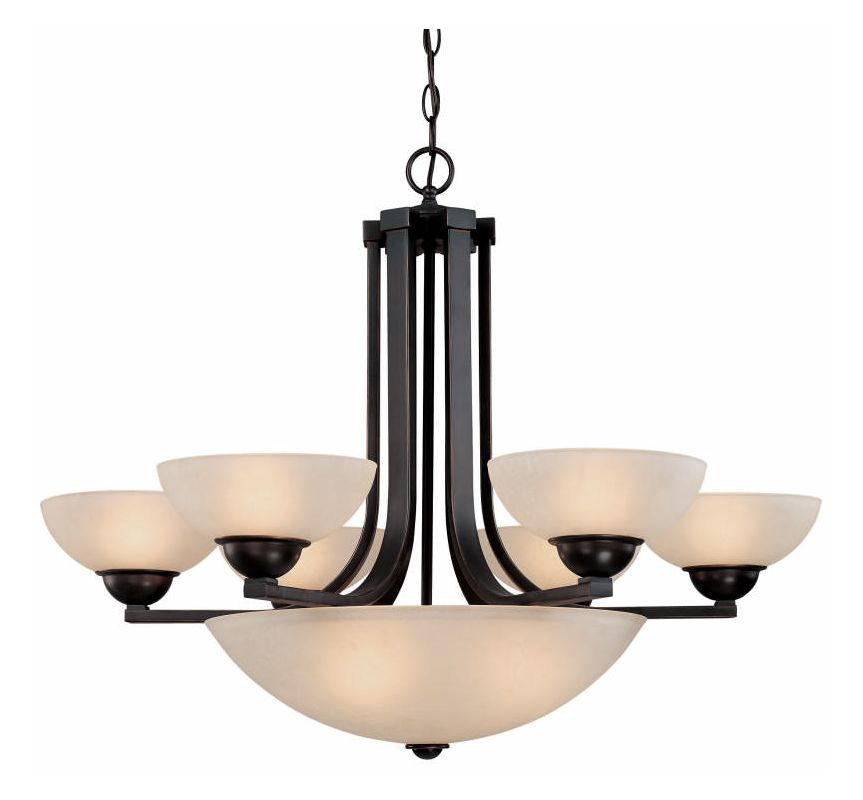 Dolan Designs 205 Fireside 9 Light 1 Tier Chandelier Bolivian Indoor