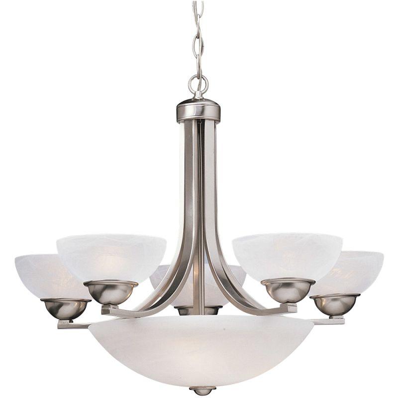 Dolan Designs 208 Fireside 8 Light 1 Tier Chandelier Satin Nickel