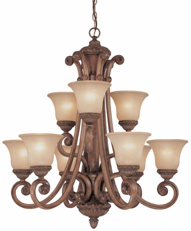 "Dolan Designs 2402 Carlyle Collection 31.5"" by 34.5"" 9-Light Two"