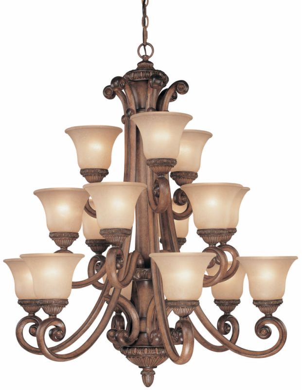 Dolan Designs 2403 3 Tier Chandelier from the Carlyle Collection