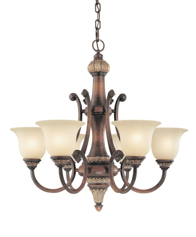 Dolan Designs 2640 Six Light Chandelier from the Bonita Collection