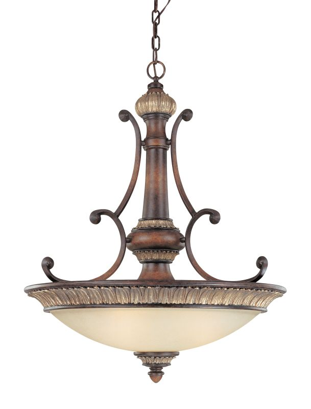 Dolan Designs 2644 Three Light Bowl Pendant from the Bonita Collection