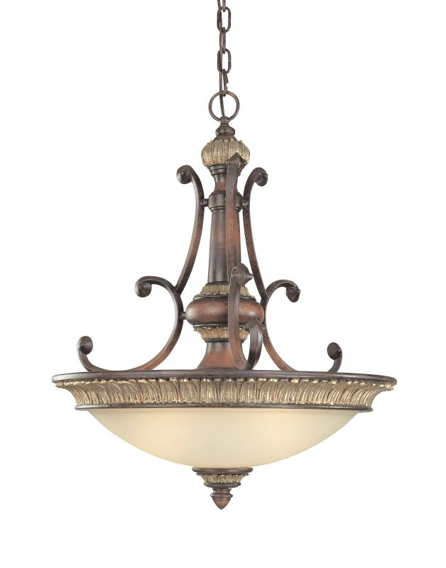 Dolan Designs 2647 Three Light Pendant from the Bonita Collection Yuma