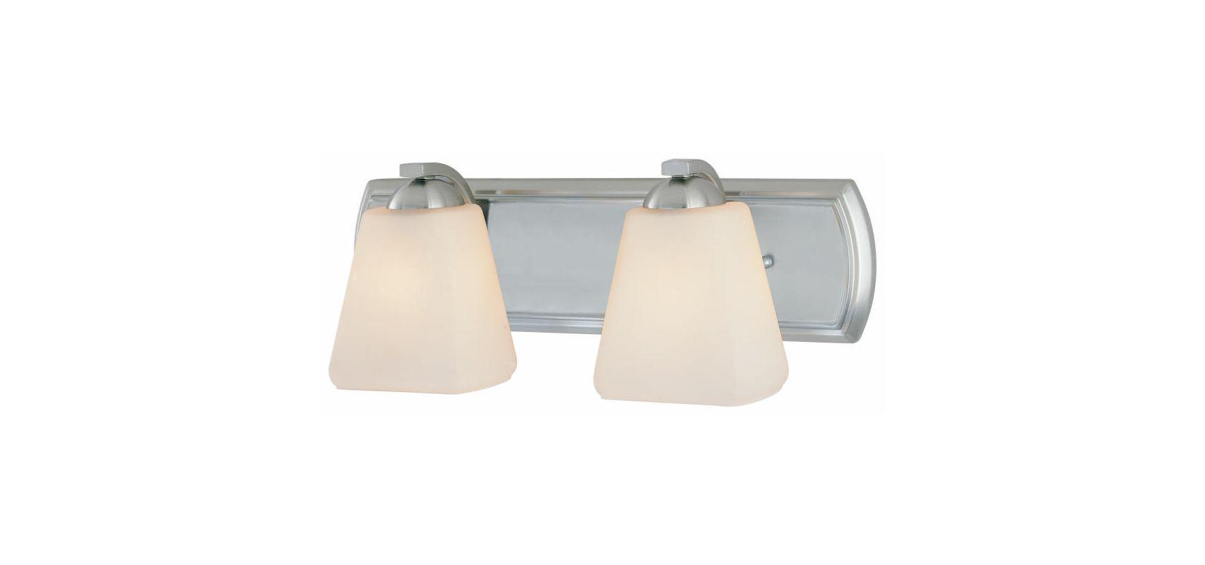 Dolan Designs 3372 Hammond 2 Light Bathroom Fixture Satin Nickel