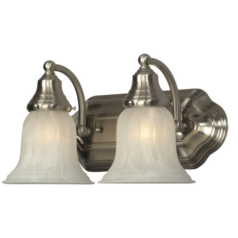 "Dolan Designs 468 2 Light 12.5"" Wide Bathroom Fixture Satin Nickel"