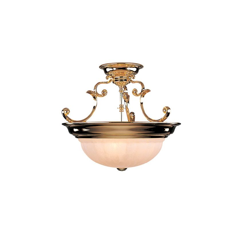 Dolan Designs 525 Semi-Flush Ceiling Fixture Polished Brass Indoor