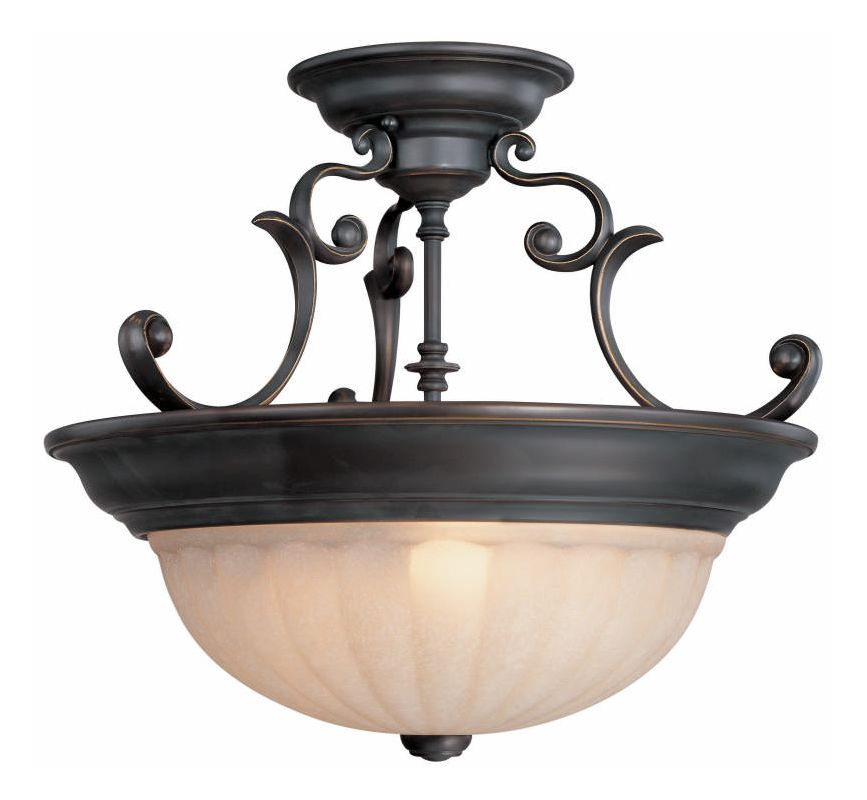 Dolan Designs 525 Semi-Flush Ceiling Fixture Bolivian Indoor Lighting