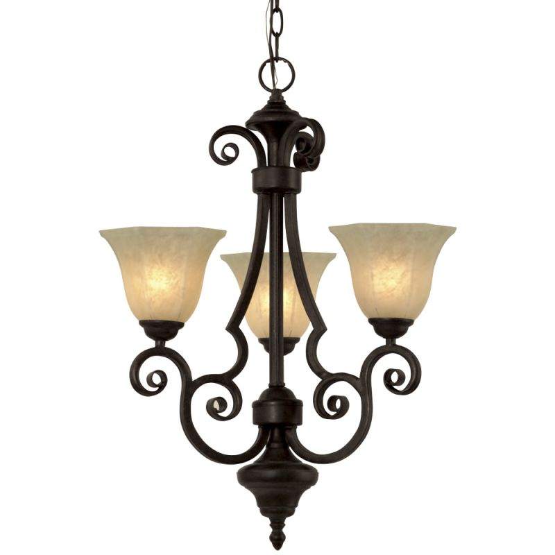 Dolan Designs 776 3 Light Mini Chandelier from the Winston Collection