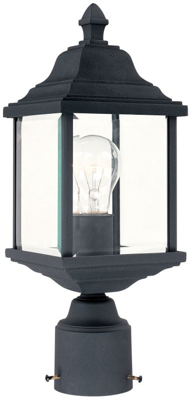 Dolan Designs 932 Charleston 1 Light Post Light Black Outdoor Lighting Sale $67.00 ITEM: bci116032 ID#:932-50 UPC: 765641932508 :