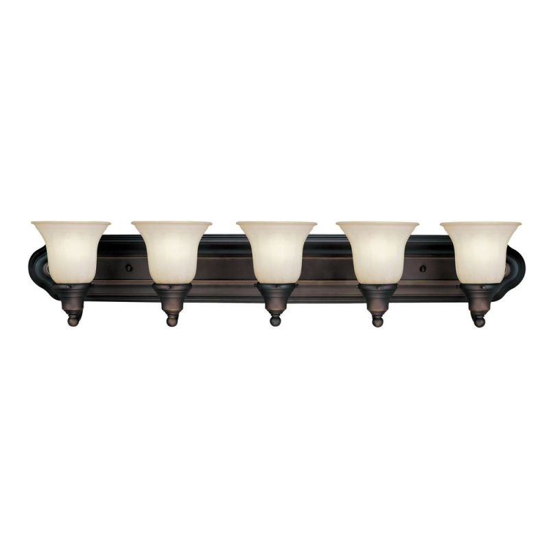 "Dolan Designs 470 5 Light 36"" Wide Bathroom Fixture with Caramelized"