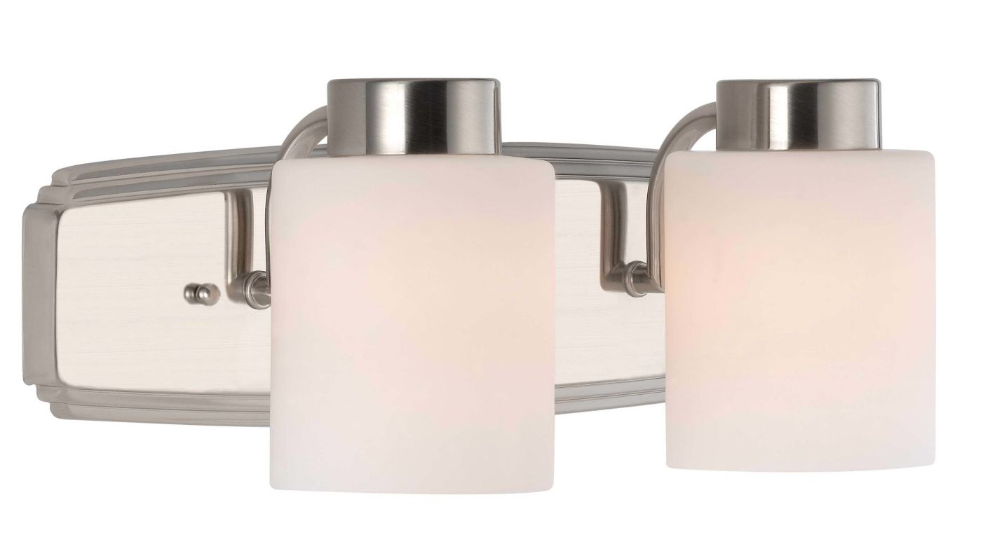 Vanity Light Height : Dolan Designs 3502-09 Satin Nickel 2 Light 6