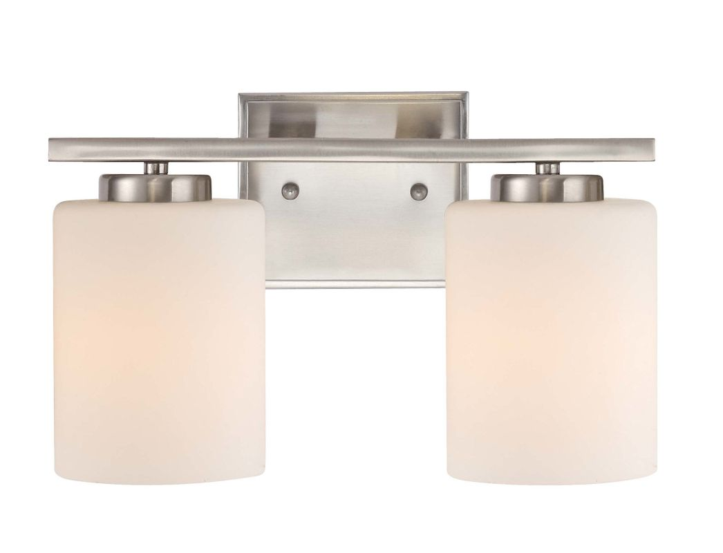 Vanity Light Height : Dolan Designs 3882-09 Satin Nickel 2 Light 7.75