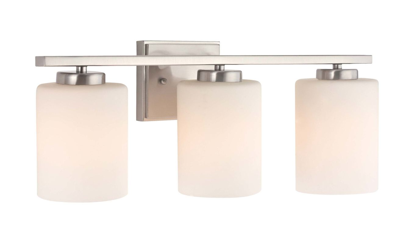 "Dolan Designs 3883 3 Light 7.75"" Height Bathroom Vanity Light Satin"