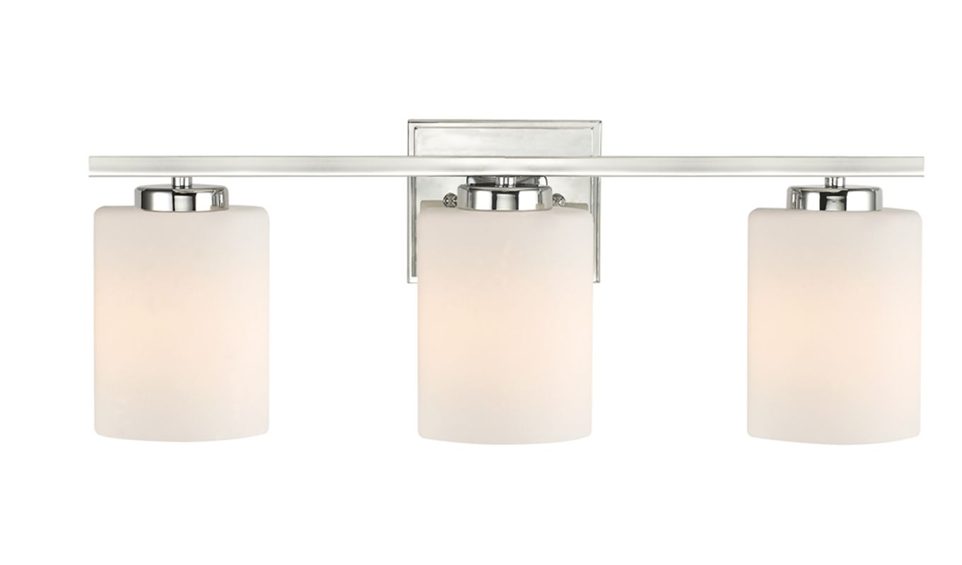 Bathroom Vanity Lights Height : Dolan Designs 3883-26 Chrome 3 Light 7.75