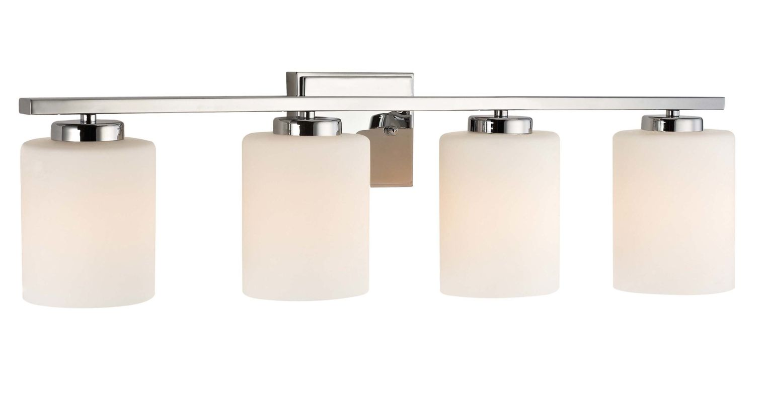 Vanity Light Height : Dolan Designs 3884-26 Chrome 4 Light 7.75
