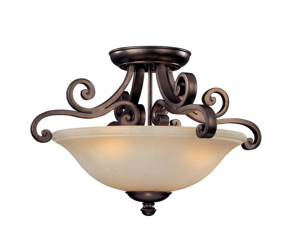 Dolan Designs 1085 3 Light Semi-Flush Mount Ceiling Fixture from the