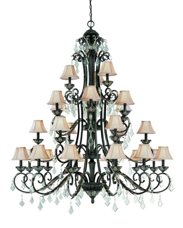 Dolan Designs 2108 27 Light 4 Tier Up Light Chandelier from the