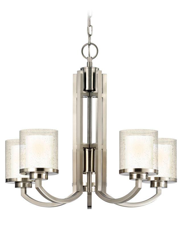 Dolan Designs 2950 Horizon 5 Light Chandelier Satin Nickel Indoor