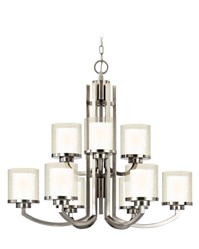 Dolan Designs 2952 Horizon 9 Light Chandelier Satin Nickel Indoor
