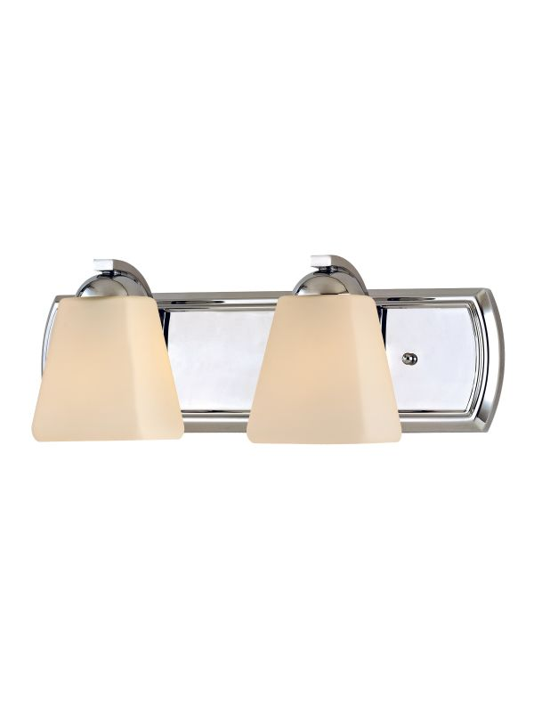 Dolan Designs 3372 Hammond 2 Light Bathroom Fixture Chrome Indoor