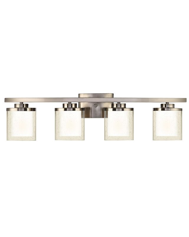 Dolan Designs 3954 Horizon 4 Light Bathroom Fixture Satin Nickel