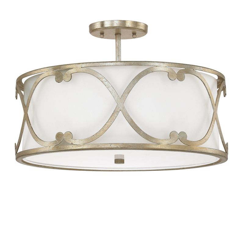 "Donny Osmond Home 4743-610 3 Light 18"" Wide Semi-Flush Ceiling Fixture"