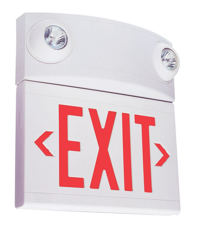 Dual-Lite LTURW3 2 Light Red LED / Halogen Tandem Exit Sign / Sale $144.35 ITEM: bci1945120 ID#:LTURW3 UPC: 782520864217 :